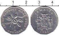 Изображение Монеты Ямайка 1 цент 1986 Алюминий XF