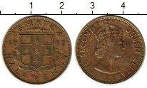 Изображение Монеты Ямайка 1/2 пенни 1957 Латунь XF