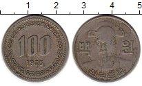 Изображение Монеты Южная Корея 100 вон 1975 Медно-никель XF