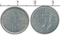 Изображение Монеты Великобритания Родезия 3 пенса 1951 Медно-никель UNC-