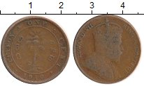 Изображение Монеты Шри-Ланка Цейлон 1 цент 1910 Бронза VF