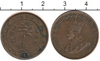 Изображение Монеты Цейлон 1 цент 1912 Бронза XF