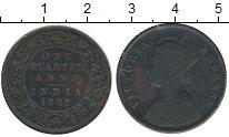 Изображение Монеты Индия 1/4 анны 1892 Бронза VF