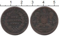 Изображение Монеты Индия 1/4 анны 1835 Медь VF