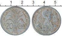 Изображение Монеты Франция Индокитай 20 центов 1945 Алюминий VF