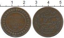 Изображение Монеты Тунис 5 сантим 1907 Медь VF