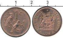 Изображение Монеты ЮАР 1 цент 1974 Бронза XF