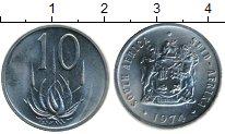 Изображение Монеты ЮАР 10 центов 1974 Медно-никель XF