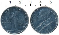 Изображение Монеты Ватикан 100 лир 1957 Железо XF
