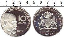 Изображение Монеты Гайана 10 долларов 1979 Серебро Proof