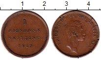 Изображение Монеты Дания 1 скиллинг 1813 Медь XF-