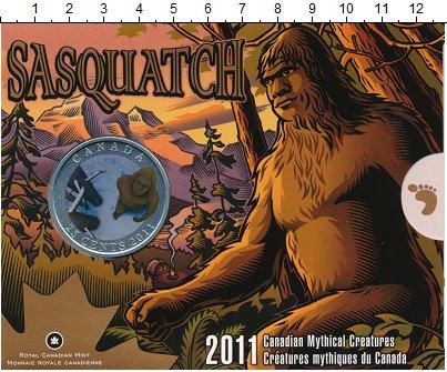 Изображение Подарочные монеты Канада 25 центов 2011 Медно-никель UNC Снежный человек. Цве