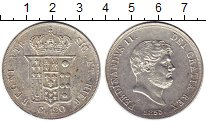 Изображение Монеты Италия Неаполь 120 гран 1855 Серебро XF