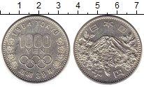Изображение Монеты Япония 1000 йен 1964 Серебро UNC-