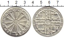Изображение Монеты Уругвай 1000 песо 1969 Серебро UNC