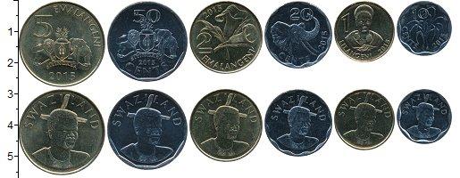 Изображение Наборы монет Свазиленд Набор 2015 года 2015 Медно-никель UNC В наборе 6 монет ном