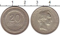 Изображение Монеты Колумбия 20 сентаво 1946 Медно-никель VF