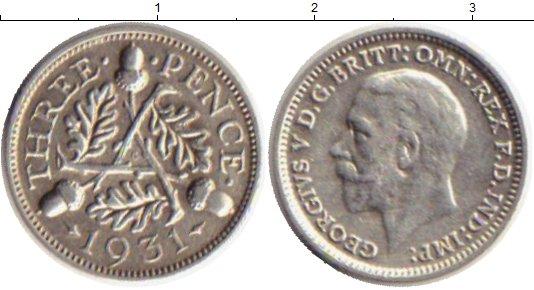 Картинка Монеты Великобритания 3 пенса Серебро 1931