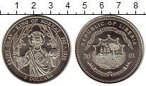 Изображение Монеты Либерия 5 долларов 2001 Медно-никель UNC