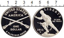 Изображение Монеты США 1 доллар 2012 Серебро Proof-