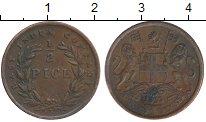 Изображение Монеты Индия 1/2 пайса 1853 Медь XF