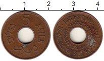 Изображение Монеты Палестина 5 милс 1944 Бронза XF
