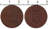 Изображение Монеты Германия Саксе-Мейнинген 1 крейцер 1854 Медь VF