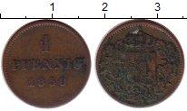 Изображение Монеты Бавария 1 пфенниг 1850 Медь VF