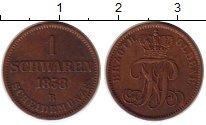 Изображение Монеты Германия Ольденбург 1 шварен 1858 Медь XF