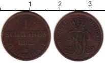 Изображение Монеты Германия Ольденбург 1 шварен 1862 Медь XF