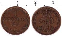 Изображение Монеты Германия Ольденбург 1 шварен 1858 Медь VF