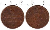 Изображение Монеты Германия Ольденбург 3 шварена 1859 Медь XF-