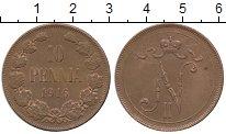 Изображение Монеты Финляндия 10 пенни 1916 Медь XF