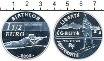 Изображение Монеты Франция 1 1/2 евро 2005 Серебро