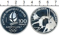 Изображение Монеты Франция 100 франков 1990 Серебро