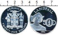 Изображение Монеты Ямайка 25 долларов 1992 Серебро