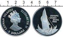 Изображение Монеты Великобритания Каймановы острова 5 долларов 1988 Серебро