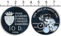 Изображение Монеты Андорра 10 динерс 1994 Серебро
