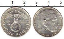 Изображение Монеты Третий Рейх 2 марки 1939 Серебро UNC-