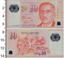Изображение Банкноты Сингапур 10 долларов 2005 Пластик XF