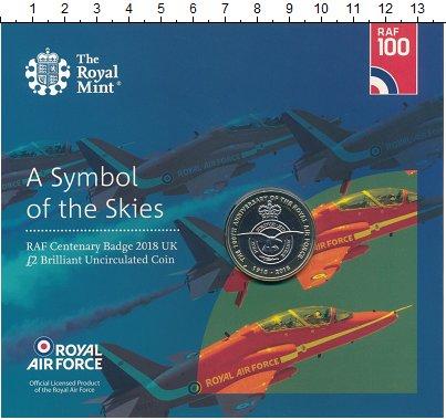 Изображение Подарочные монеты Великобритания 2 фунта 2018 Биметалл UNC 100 лет Королевским
