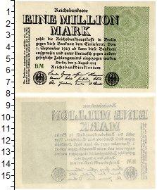 Изображение Банкноты Германия Веймаровская Республика 1000000 марок 1923  UNC-