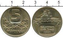 Изображение Монеты Финляндия 5 марок 1991 Латунь