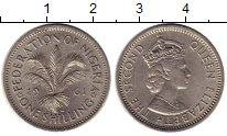 Изображение Монеты Нигерия 1 шиллинг 1961 Медно-никель