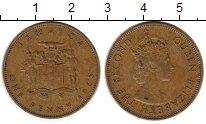 Изображение Монеты Ямайка 1 пенни 1965 Латунь