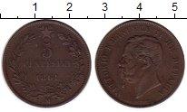 Изображение Монеты Италия 5 сентесим 1861 Медь