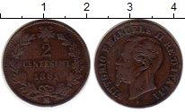 Изображение Монеты Италия 2 сентесимо 1861 Медь