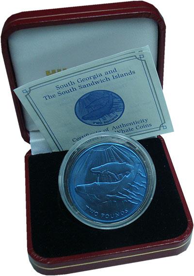 Изображение Подарочные монеты Сендвичевы острова 2 фунта 2013 Титан UNC