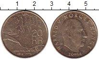 Изображение Монеты Норвегия 20 крон 2014 Латунь XF