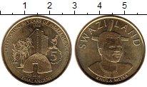 Изображение Монеты Свазиленд 5 эмалангени 2018 Латунь UNC-